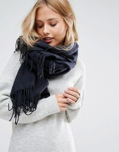 Pieces Woven Herringbone Scarf on Shopstyle.