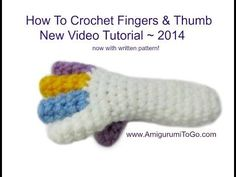 How To Crochet Fingers - YouTube