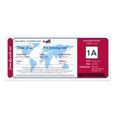 Shop World Map Birthday Boarding Pass Ticket Invitation created by labellarue. Boarding Pass Invitation, Ticket Invitation, Invitation Paper, Zazzle Invitations, Ticket Card, Passport Online, Party World, Personalized Note Cards, Birthday Party Invitations