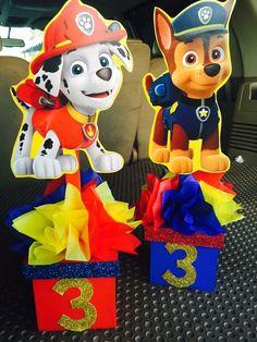 Centros de mesa niños First Birthday Parties, Kids Birthday Themes, Birthday Candy, Birthday Table, 2nd Birthday, Paw Patrol Party, Paw Patrol Birthday Theme, Paw Patrol Decorations, Puppy Party