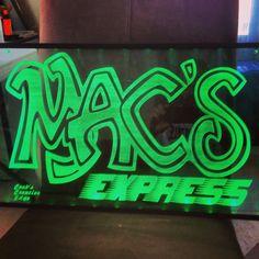 Macs Express led edge lit sign!