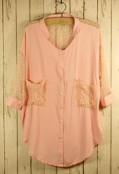 Best Lace Forward Shirt in Pink