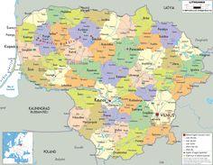 Lithuanian Political Map