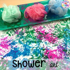 My Body Themed Activities and Centers Shower art! My Body themed centers and activities FREEBIES too! Preschool, pre-k, and kindergarten kiddos will love these centers.