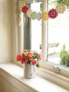 Sweet crochet garland ideas