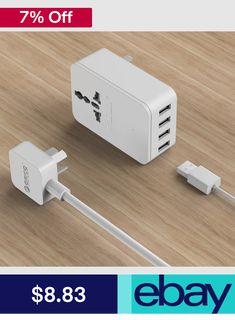 16A Smart Home Power Socket Strip 6USB Port 3 Universal Wall Outlet Sockets Plug