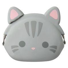 Mimi Pochi Tabby Cat Coin Purse // very kawaii, cute yet minimalist