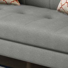 Treston Mid Century Sofa Gray - Christopher Knight Home Modern Grey Sofa, Gray Sofa, Mid Century Sofa, Mid Century Design, Fabric Sofa, Grey Fabric, Sofa Seats, Best Buy Store, Furniture Assembly