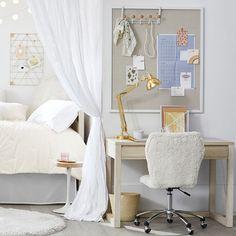 Dorm Storage, Dorm Organization, Record Storage, Tv Decor, Home Decor, Bedroom Photos, Study Space, Pottery Barn Teen, Bedding Shop