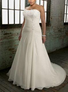 2013 Cheap A Line Wedding Gown Sweetheart Neckline Plus Size Wedding Dress