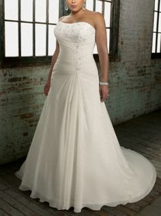 2013 Cheap A Line Wedding Gown Sweetheart Neckline Plus Size Wedding Dress