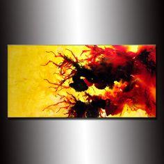 Pintura abstracta original  TAMAÑO: 48 X 24 X 1,5   (ACABADO DE ALTO BRILLO)  TÍTULO: MIRADA DE ESPERANZA 2  PINTURA a medida - Original contemporáneo Modern Abstract Painting by Henry parsinia. La pintura será similar al que ves aquí, que ya he vendido. La pintura será firmada por mí y será enviada directamente desde mi estudio.  Esta pintura moderna abstracta contemporánea fue pintada sobre lienzo libre ácido Galería envuelta. Se han utilizado sólo los materiales de arte fino de la…