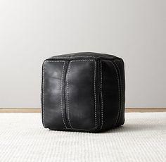 Moroccan Leather Pouf - RHB&H