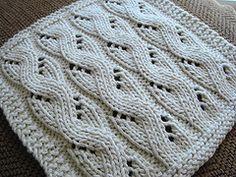 Ravelry: Lacy Mock Cable dishcloth pattern by Vaunda Rae Giberson