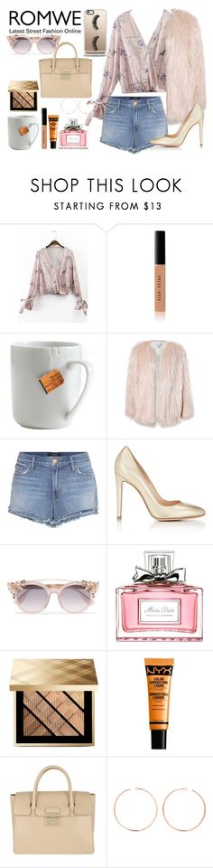 """""""Me, myself and I."""" by carla-limitededition ❤ liked on Polyvore featuring Bobbi Brown Cosmetics, le mouton noir & co., Sans Souci, J Brand, Gianvito Rossi, Jimmy Choo, Christian Dior, Burberry, NYX and Furla"""