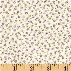 Kaufman Sevenberry Petite Fleurs Buds Lavender
