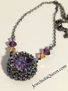 Fire Opal  Necklace Swarovski Crystal Necklace Handmade Jewelry Swarovski Steampunk Necklace Vintage Necklace Topaz Amethyst Necklace by JewelsofaQueen on Etsy