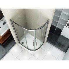 Štvrťkruhový sprchovací kút RELAX S4 120 × 80 cm s posuvnými dverami vrátane sprchovej vaničky z liateho mramoru – ľavý variant | KrasnaKupelna.sk Lava, Bathtub, Bathroom, Standing Bath, Washroom, Bathtubs, Bath Tube, Full Bath, Bath
