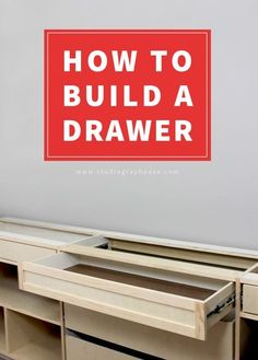 The EASIEST way to build and install drawers. (includes an instructional video).