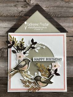 Card Kit, I Card, Birthday Sentiments, Birthday Cards For Women, Bird Theme, Bird On Branch, Square Card, Bird Cards, Some Cards