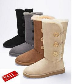 FREE SHIPPING Warm Genuine Leather AUSTRALIAN platform WINTER BOOTS WOMEN SHEEPSKIN Bailey Button Triplet SNOW BOOTS FOR GIRLS $44.99 LOVE it UGG fashion This is my dream , Click the link for best price UGG .