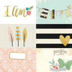 4x6 Horizontal Journaling Card Elements | Simple Stories