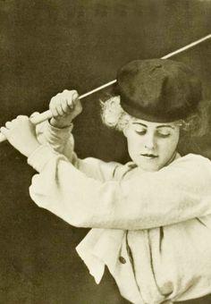 """""""Golf girl"""", 1906. #vintage #Edwardian #classicism #golf"""