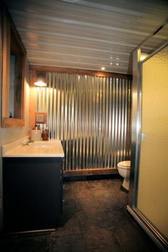 silo shower man cave bathroom with indoor outhouse modern on smart man cave basement ideas id=17923