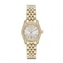 4392f07a7b553 Michael Kors Silver Dial Gold-tone Stainless Steel Ladies Watch This petite Michael  Kors Lexington offers a classic look perfect for the office or a