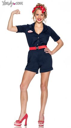 Riveting Rosie Costume, Rosie the Riveter Costume, Rosie Halloween Costume
