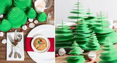 Sapin de Noël fait de ronds de papier de taille croissante enfilés sur un pique en bois - tutoriel