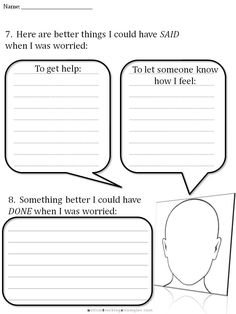 Cbt Children S Emotion Worksheet Series 7 Worksheets For Dealing With Anxiety Therapy