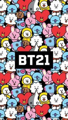 Bts, and rj image Bts Boys, Bts Bangtan Boy, Bts Wallpapers, K Wallpaper, Bubbles Wallpaper, Line Friends, Bts Drawings, Bts Chibi, I Love Bts