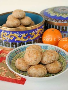 Sweet salty melt-in-the-mouth Chinese Peanut Cookies using just a handful of ingredients. It's gluten free too! | Roti n Rice