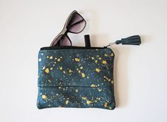 Sophie Mini Clutch in Metallic Gold by aperfectmessvintage on Etsy, $30.00