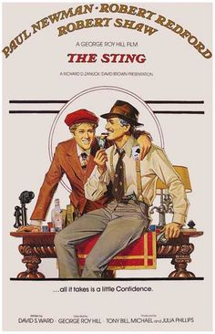The Sting Paul Newman Robert Redford Movie Poster 11x17