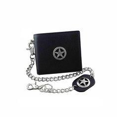 Texas Star Bifold - Punk biker wallet you need. #RearTone #bikerwallet #punk #fashion #skull