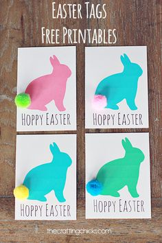 free printable Hoppy Easter tags