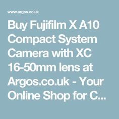 Buy Fujifilm X A10 Compact System Camera with XC 16-50mm lens at Argos.co.uk - Your Online Shop for Compact system digital cameras, Cameras, Cameras and camcorders, Technology.