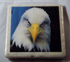 Bald Eagle Drink Coaster by TheCoasterMan on Etsy, $8.00