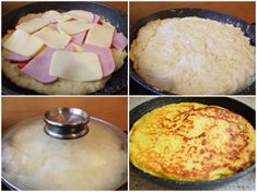 placinta-la-tigaie-cu-aluat de cartofi-2 Romanian Food, Herbal Remedies, Cornbread, Camembert Cheese, Mashed Potatoes, Food To Make, Herbalism, Bacon, Goodies