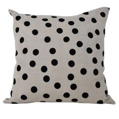 Linen Dots Cushion by French Country