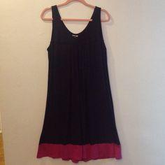 Dress Rayon/spandex Dress.  Black with Mauve border on bottom St. John's Bay Dresses
