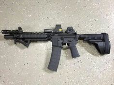AR pistol with Sig Tac arm brace