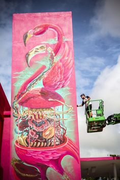 * Street Art Mural in Miami by Nychos