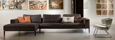 With intoxicating beauty, the Hudson Sectional Sofa by Gamma International will renew your living room with fashionable creativity in a color or texture that fits your domestic individuality. This well-appointed blueprint of functional modernism featuring irresistible top grain Italian leather offers numerous placement options with various conforming components from the Hudson series, to ensure your ideal image of refinement. Hand made in Italy.