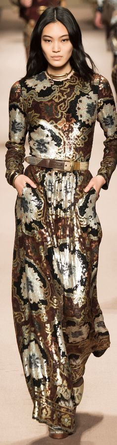 Etro Fall 2015 Ready-to-Wear Fashion Show All About Fashion, Love Fashion, Runway Fashion, High Fashion, Fashion Show, Fashion Design, Floral Fashion, Ellie Saab, Beautiful Gowns