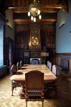 Dining Room of Gaudi's Palau Güell (Palace Guell), Barcelona, Spain