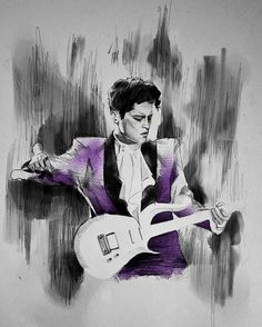 Thanks to whomever created this art piece of Bruno giving tribute to Prince.  Love!!