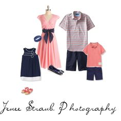 What to wear for your family photo session: coral and navy.  www.jeneestraubphoto.com Katy, Texas photographer